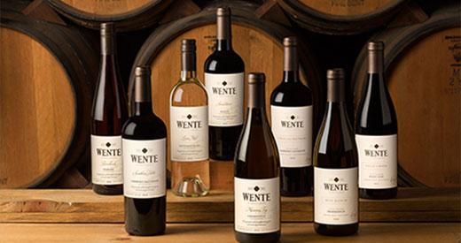 Wente Wine Bottles